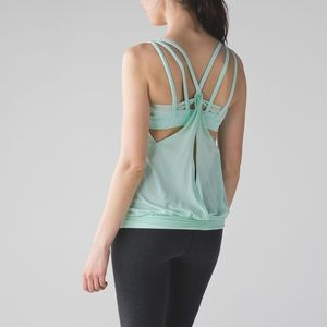 Lululemon Nouveau Limits Tank Sea Mist